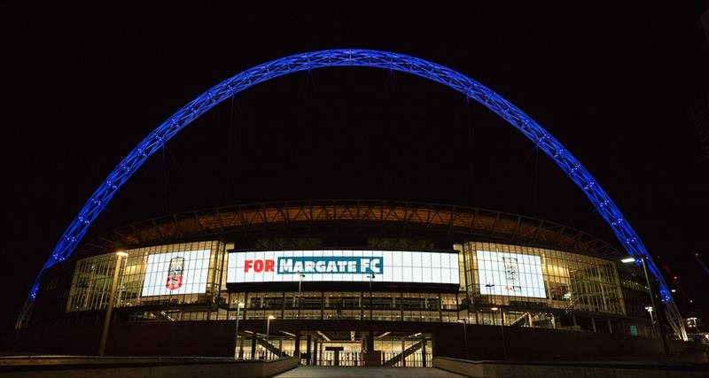 Wembley Stadium Lights Up For Margate FC