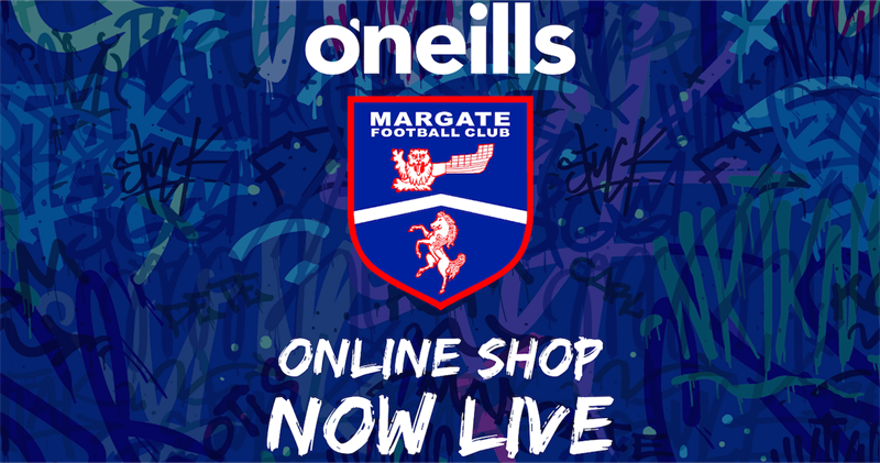 Margate FC Leisurewear Online Shop Opens